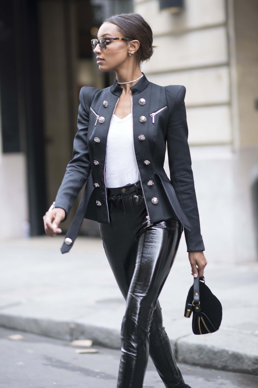 268dbde0438fe8 Jasmine Tookes street style at Paris Fashion Week | Women's style in ...