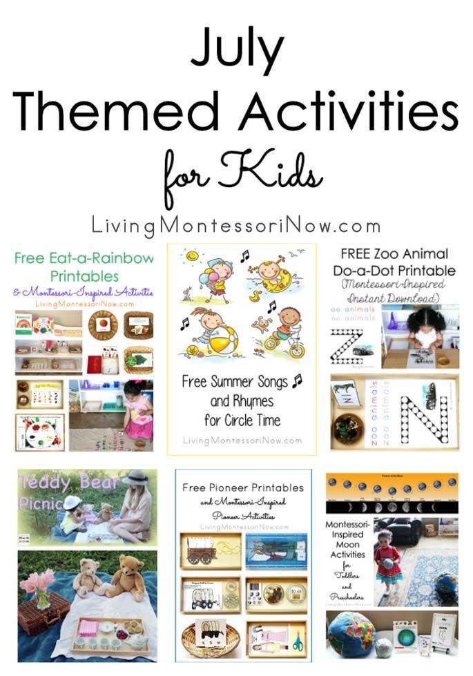 July Preschool Themes : preschool, themes, Themed, Activities, Montessori, Activities,, Lesson, Plans