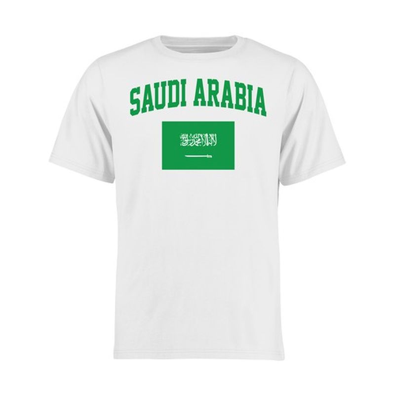 Saudi Arabia Youth Flag T Shirt White White Flag Kazakhstan