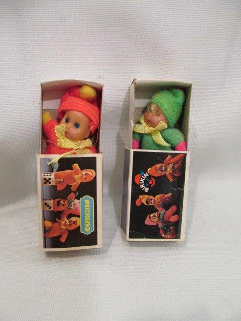 "3"" Pierino Matchbox Baby doll. Orange and Yellow picclick.com"