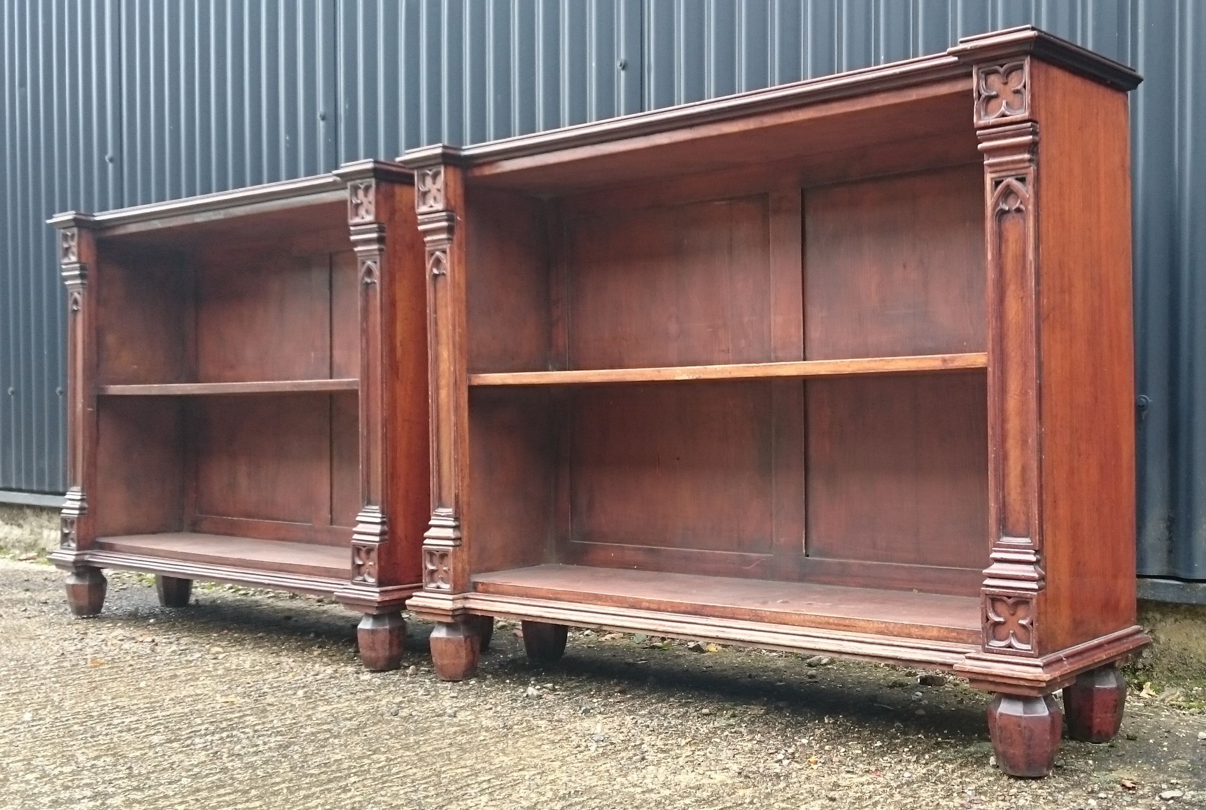 Pair Of Early 19th Century Bookcases In The Gothic Style This Is A Really Wonderful Pair Of Bookcases Which Pro Antique Bookcase Repurposed Furniture Bookcase