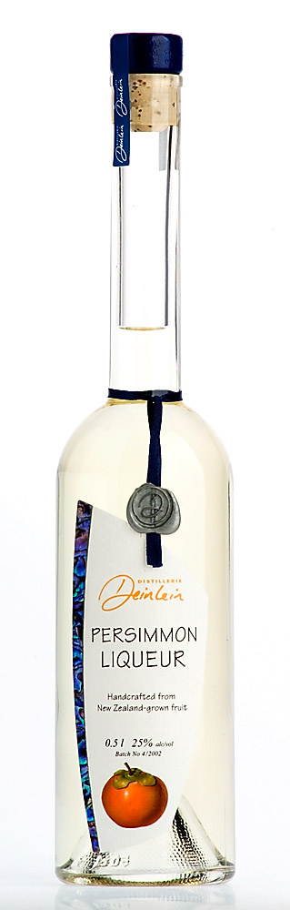 Persimmon Liqueur. Thaby here's a bottle with a persimmon in it not a pear.
