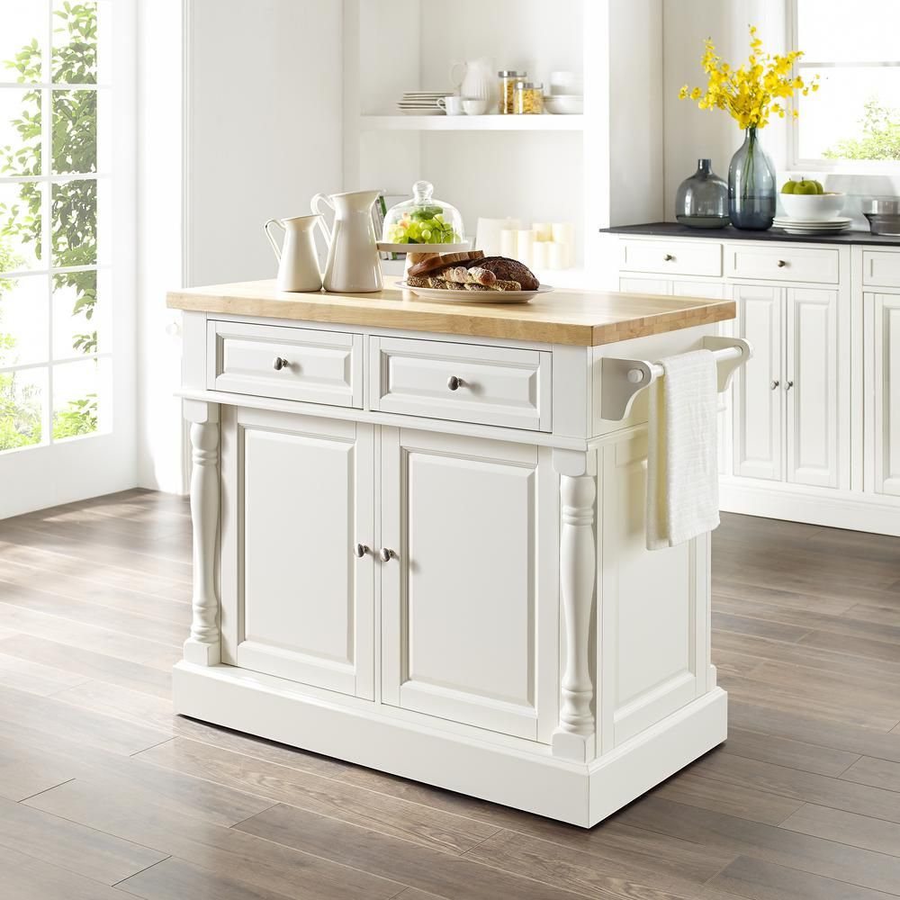 Crosley Furniture Oxford White Kitchen Island With X Back Stools Kf300063wh The Home Depot In 2020 White Kitchen Island Kitchen Island Stools With Backs Grey Kitchen Island