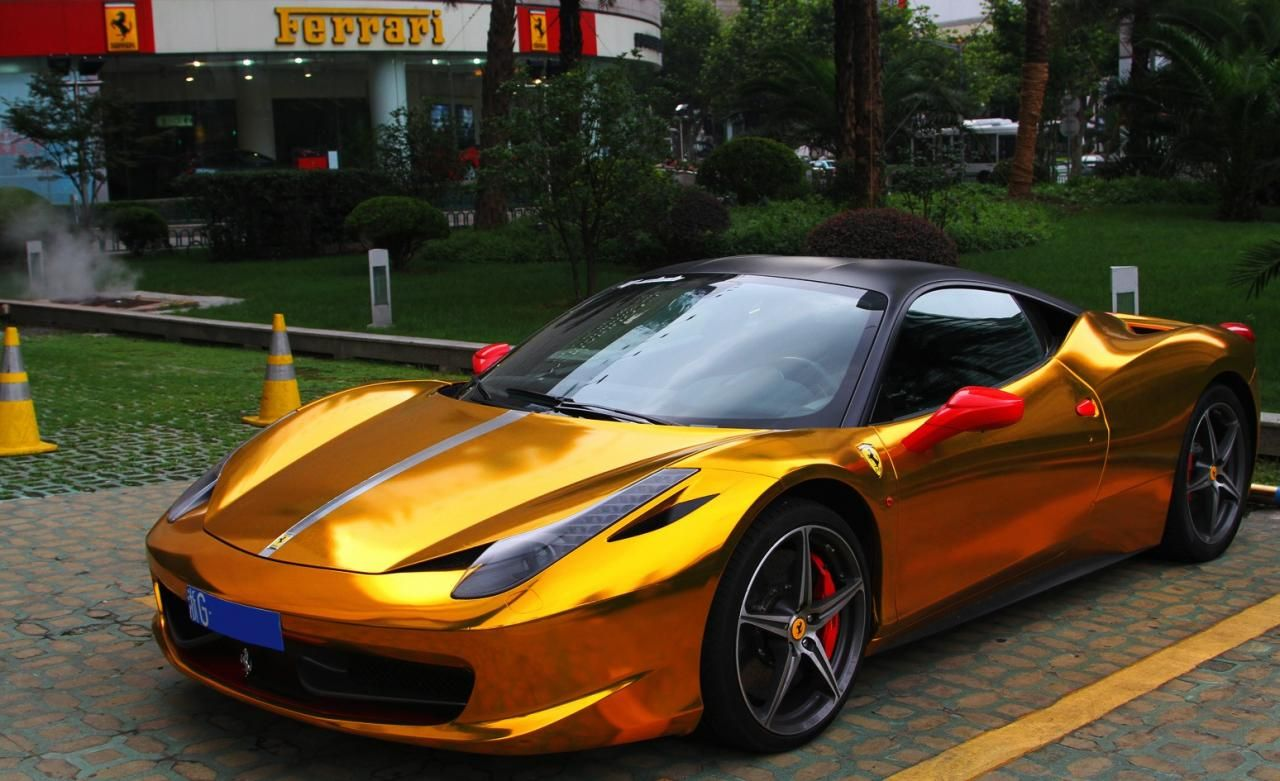 Ferrari 458 Gold With Images Super Cars Ferrari Ferrari 458