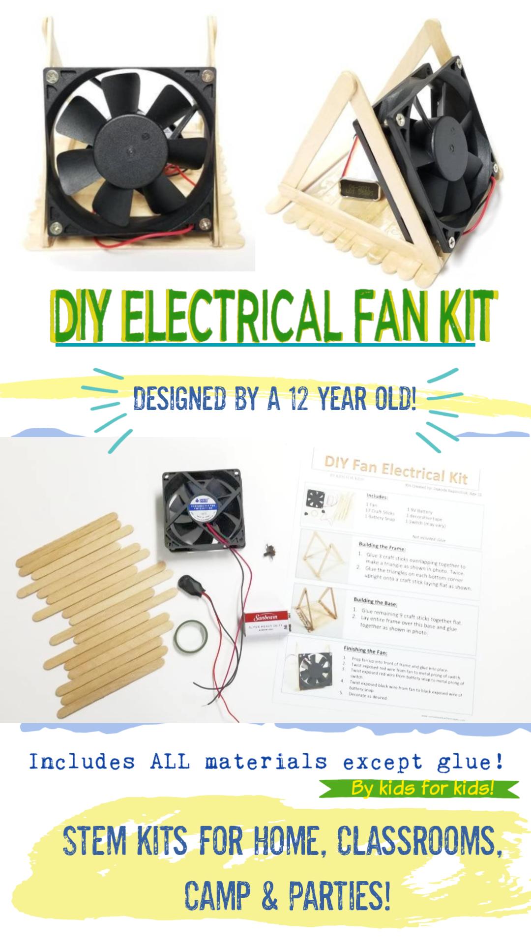 DIY Build a Fan Kid's Electrical STEM Kit Engineering in