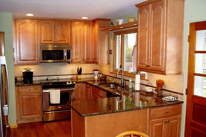 Image result for best countertops for maple cabinets ...
