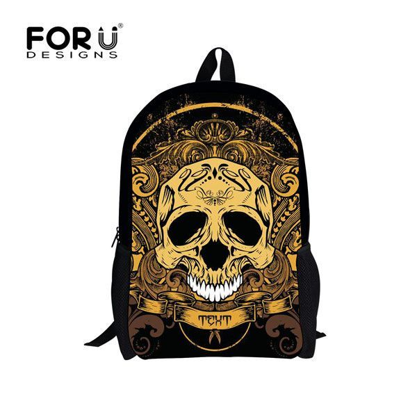 Vintage Women Backpack Street Punk Rock Package Retro Skeleton School Backpacks for Teenage Girls Boys Bolsas Mochila feminina