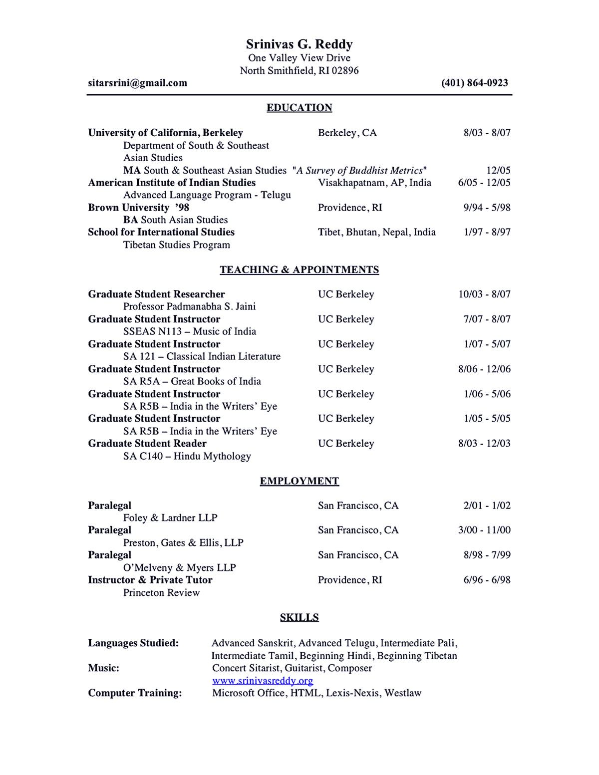 Academic Resume Sample Academic Resume Sample Shows You How To Make Academic Resume