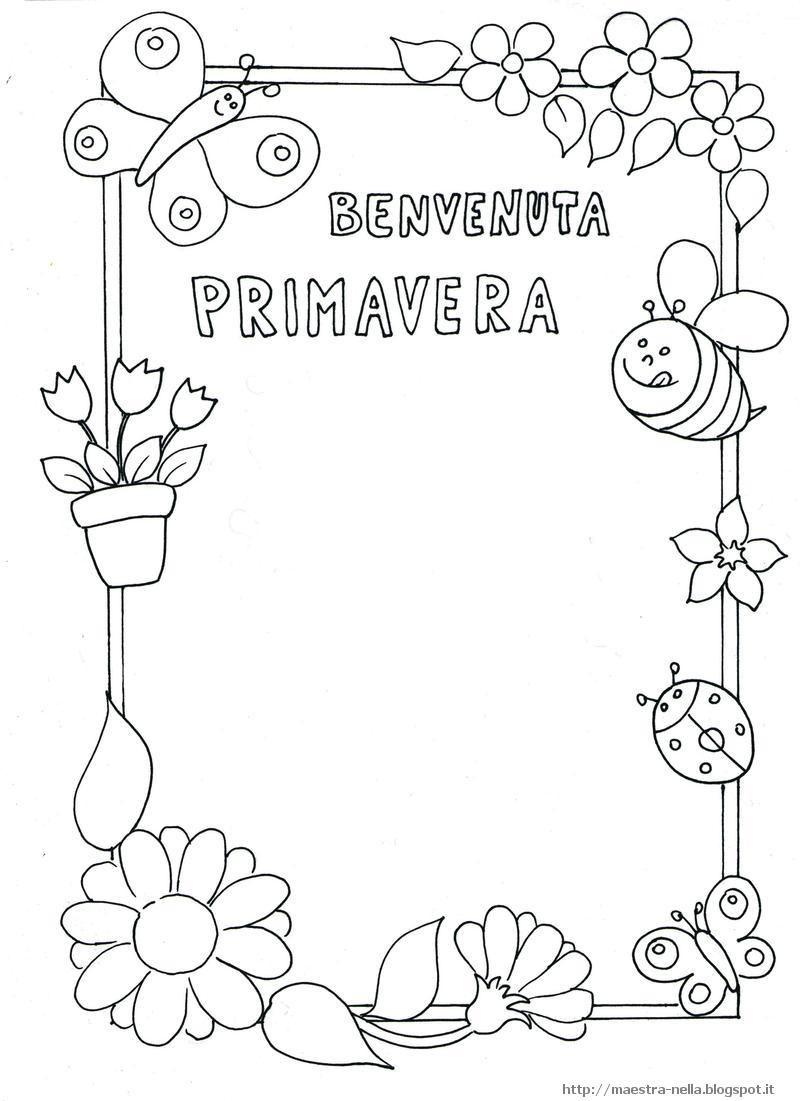Disegni idee e lavoretti per la scuola dell 39 infanzia e for Immagini sulla primavera da stampare e colorare