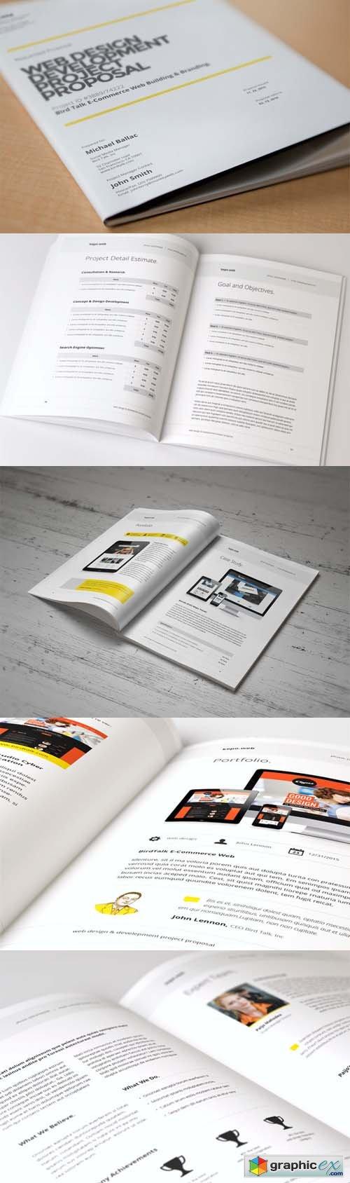 Web Design Proposal  Template    Proposals Photoshop
