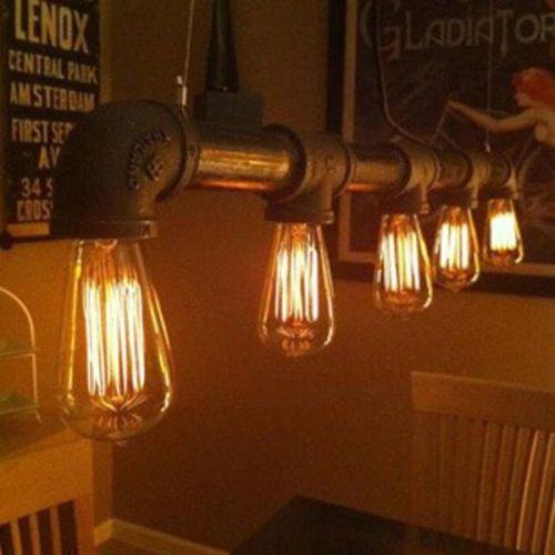 rustic interior lighting. Industrial Retro Vintage Water Pipe Pendant Lamp Ceiling Lights Kitchen Bar In Home, Furniture \u0026 DIY, Lighting, Chandeliers Rustic Interior Lighting L