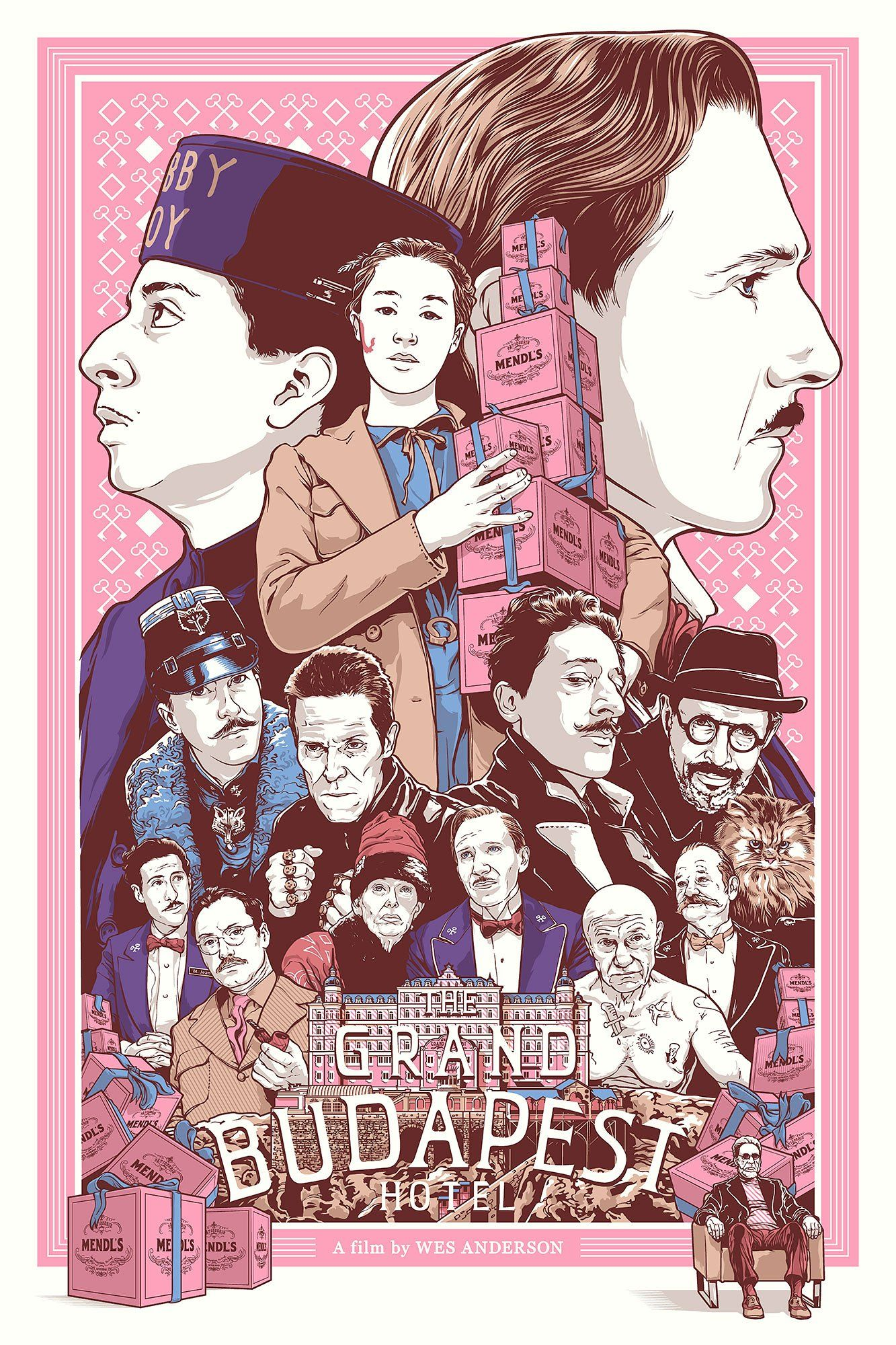 Joshua Budich The Grand Budapest Hotel Wes Anderson Movies Movie Posters Minimalist Grand Budapest Hotel Poster