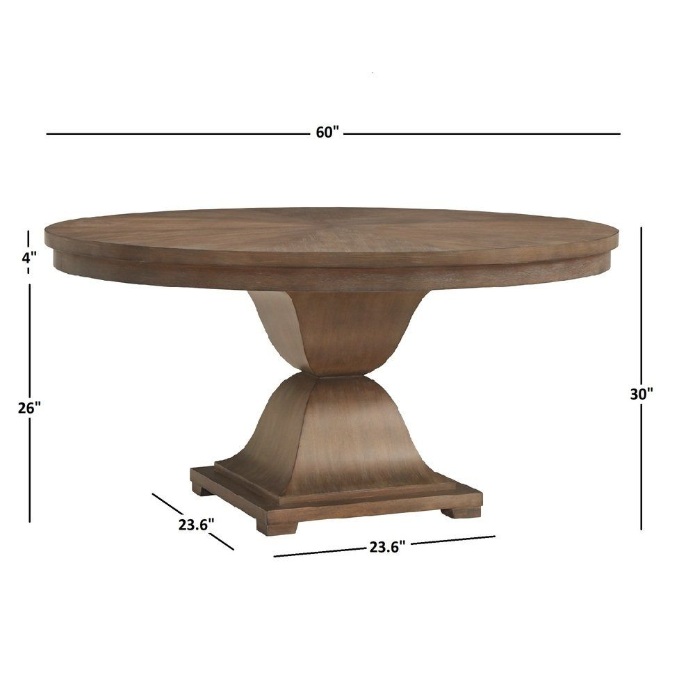 Monaco Scratch Resistant 60 Inch Round Wood Dining Table By Inspire Q
