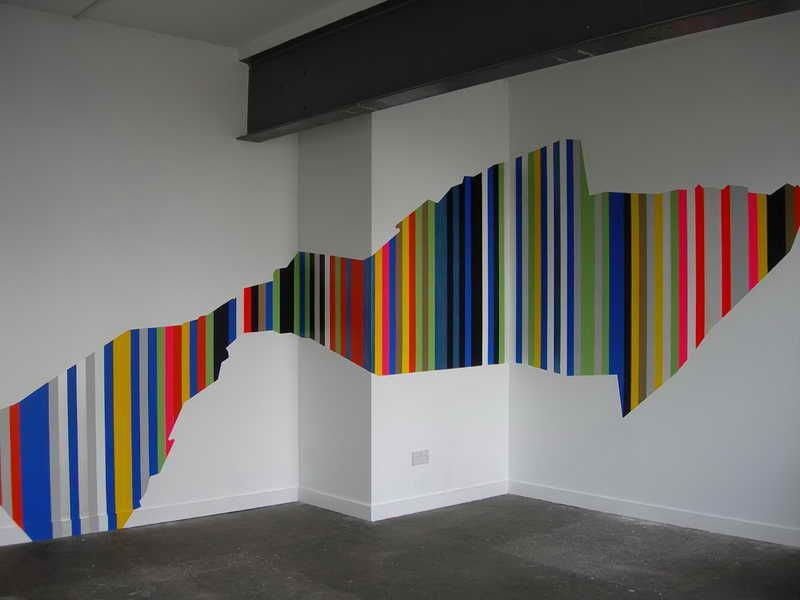 Wall Painting Techniques Stripes Decorating Ideas: Modern Wall ...