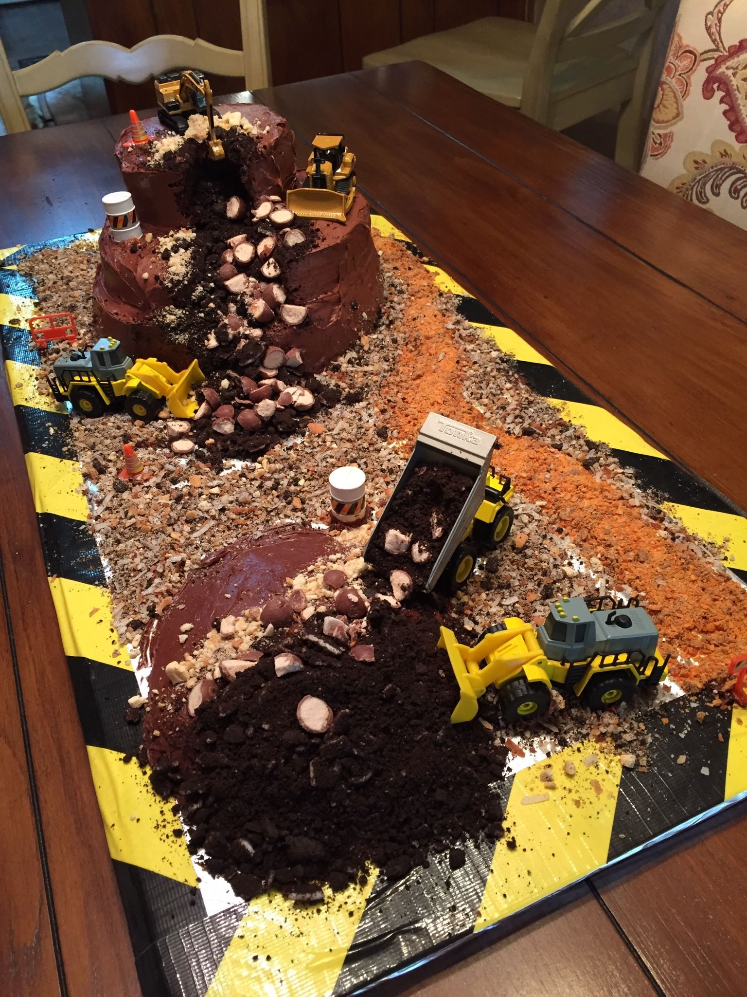 Construction Site Cake 2nd Birthday Party Themes Parties Theme Boy