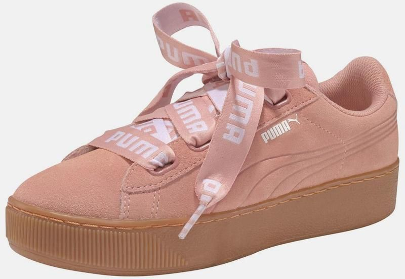 PUMA Plateausneaker 'Vicky Platform Ribbon Bold' in pink