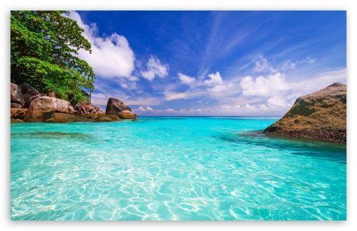 Beach Day Hd Wallpaper For 4k Uhd Widescreen Desktop Smartphone Beach Wallpaper Beach Landscape Landscape Wallpaper