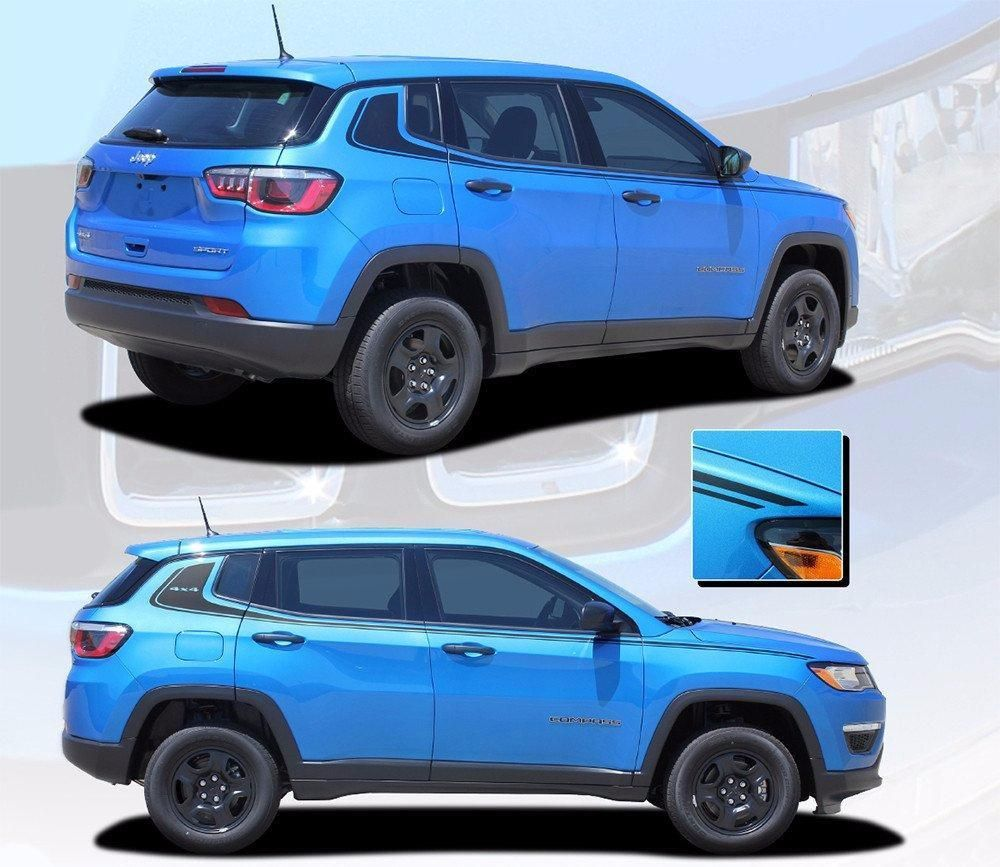 2017 2020 Jeep Compass Stripes Vinyl Graphics Decals Door Body Line Accent 3m Altitude Jeep Compass Jeep Jeep Models