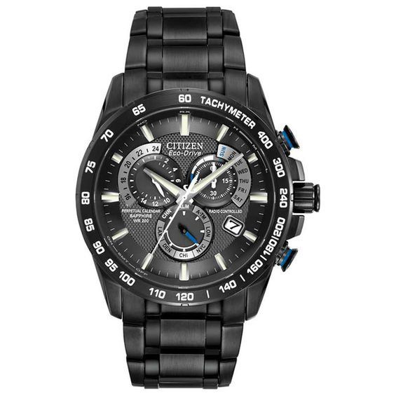 86002f3b3 Men's Citizen Eco-Drive® Perpetual Chrono A-T Watch with Black Dial (Model:  At4007-54E)