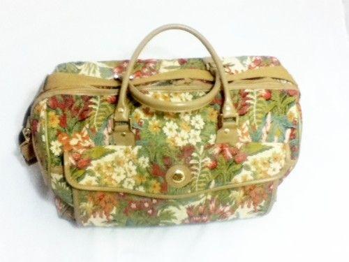 Diane VON Furstenberg BON Voyage Tapestry Duffle Carry ON Overnight BAG | eBay
