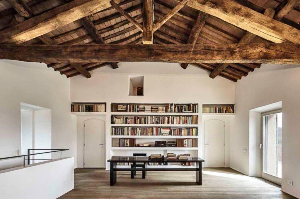Boekenkast in de muur decoratie pinterest