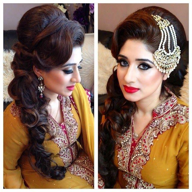 Pakistani Hairstyles Buns: Aamir Naveed Bridal Hairstyles 2015