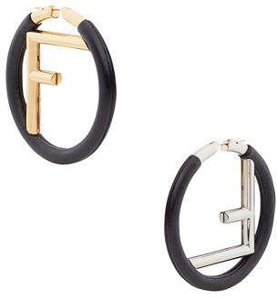 ce56998c9 Fendi FF Hoop Earrings | Products | Hoop earrings, Earrings, Women's ...