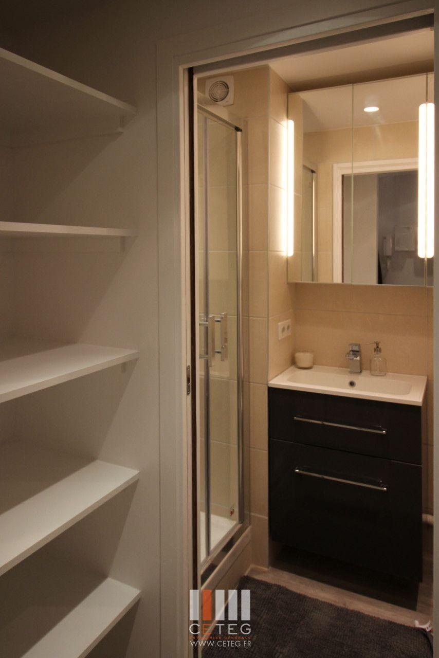 ceteg studio 26m optimisation despace meuble salle de bain gain de place lapeyre mobilier - Meubles Gain De Place Ikea