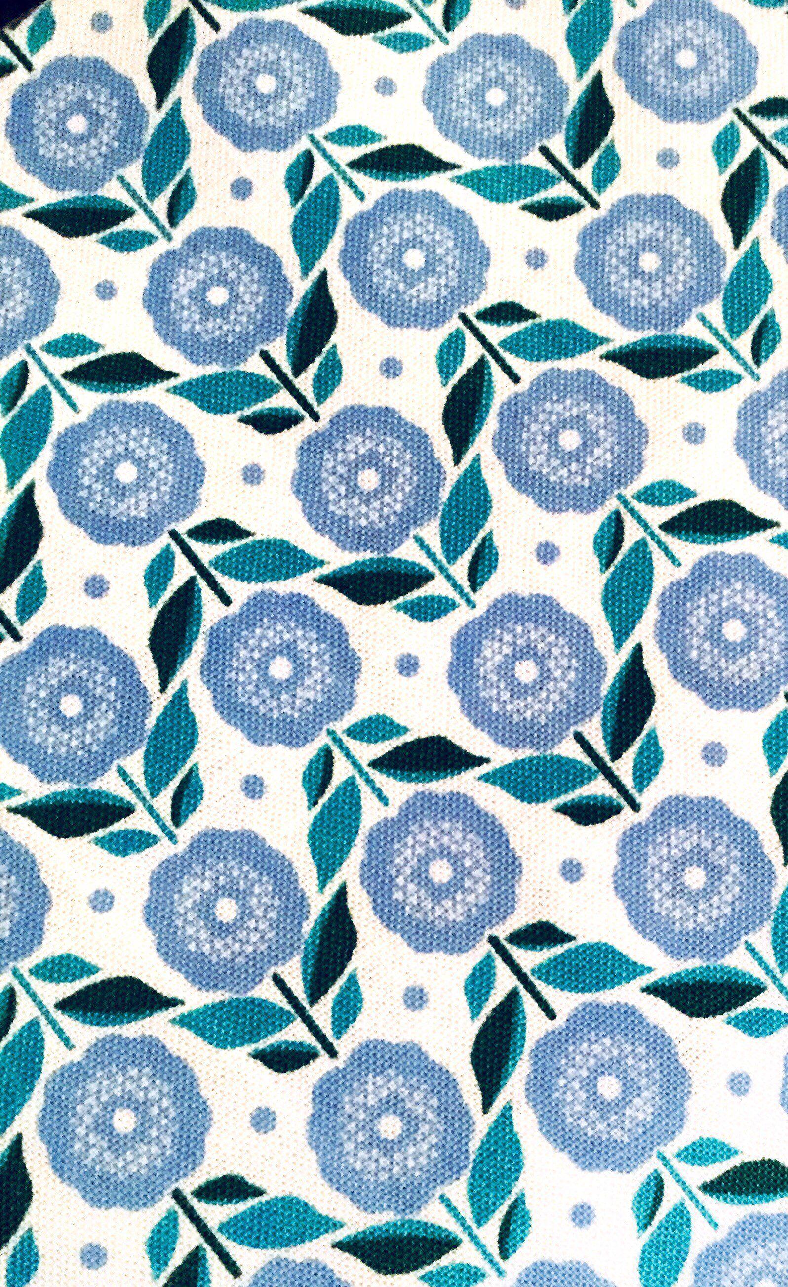 Swedish Fabric Mod Designer Fabric Scandi Floral Print Etsy Scandi Art Scandinavian Textiles Surface Pattern Design