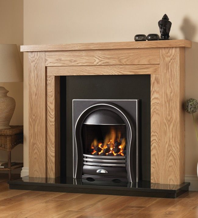 Hanley Fireplace Wooden Package With Annabelle Electric Fire In
