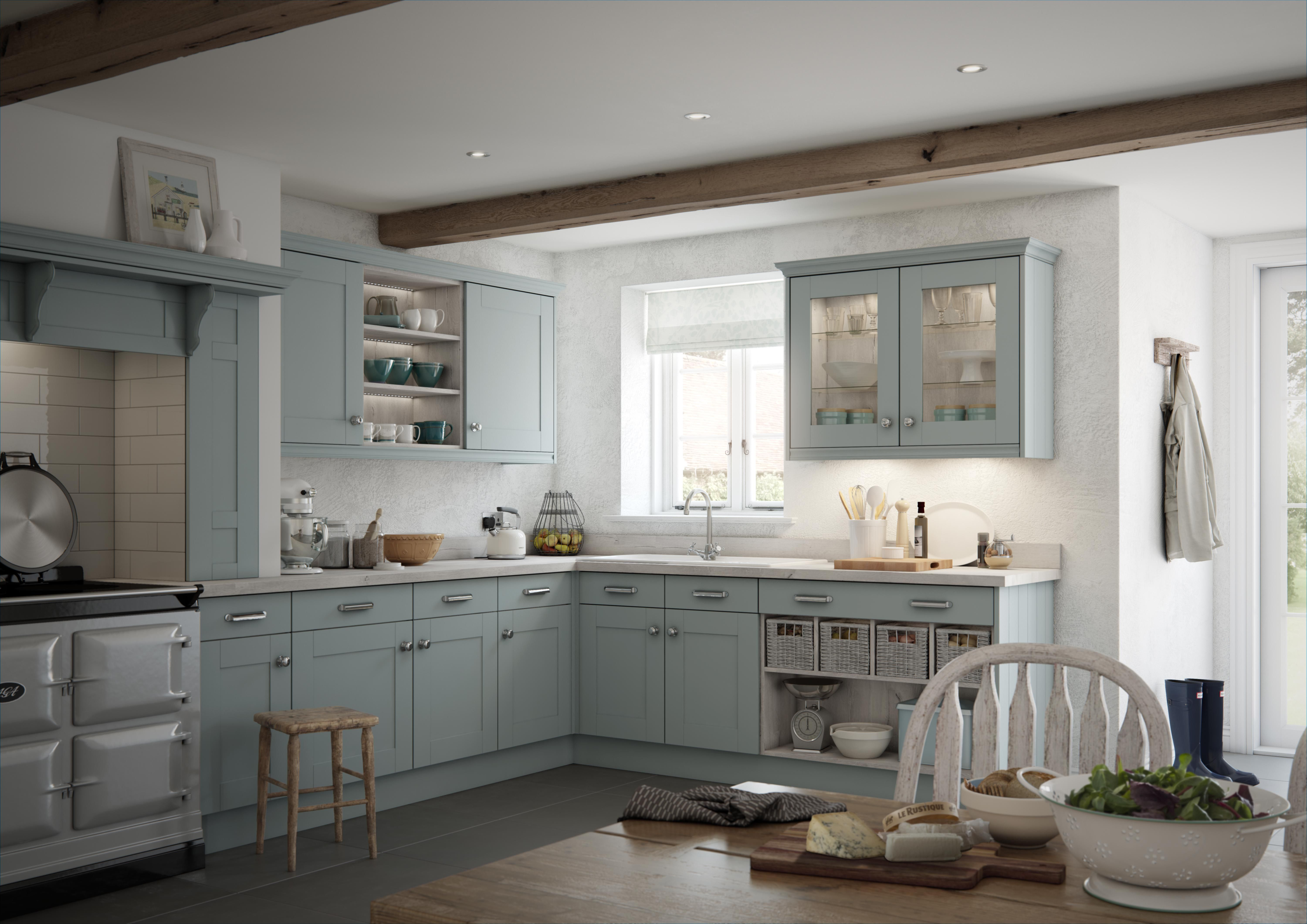 Rustic country kitchen design country kitchen amp bath rustic - Canterbury Pale Pacific From Mereway Kitchen S Town And Country Range