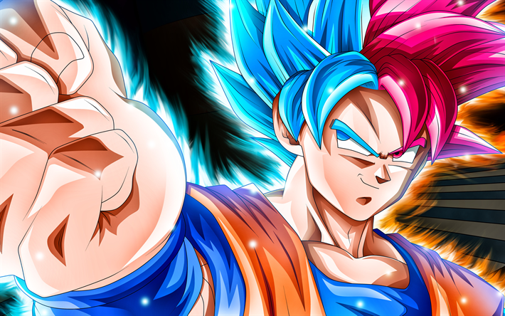 Download Wallpapers 4k Goku Art Dragon Ball Super Manga Dbs Dragon Ball Besthqwallpapers Com Goku Super Goku Super Saiyan Personagens De Anime