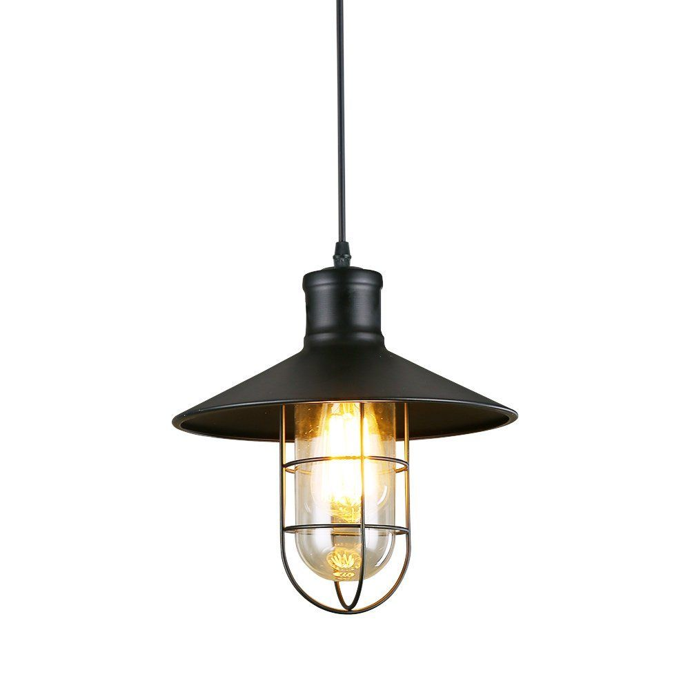 Lnc Vintage Style Industrial Black Mini Metal Wire Cage Ceiling Pendant Light Shade Bulbs Not Included Amazon Com Pendant Light Fixtures Industrial Pendant Lights Hanging Pendants