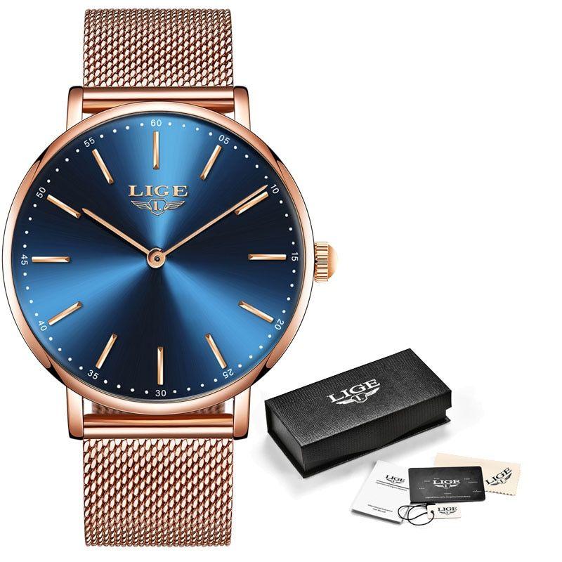 ALijET New Rose Gold Women Watch Business Quartz Watch Ladies Top Brand Luxury Female Wrist Watch Girl Clock Relogio Feminin