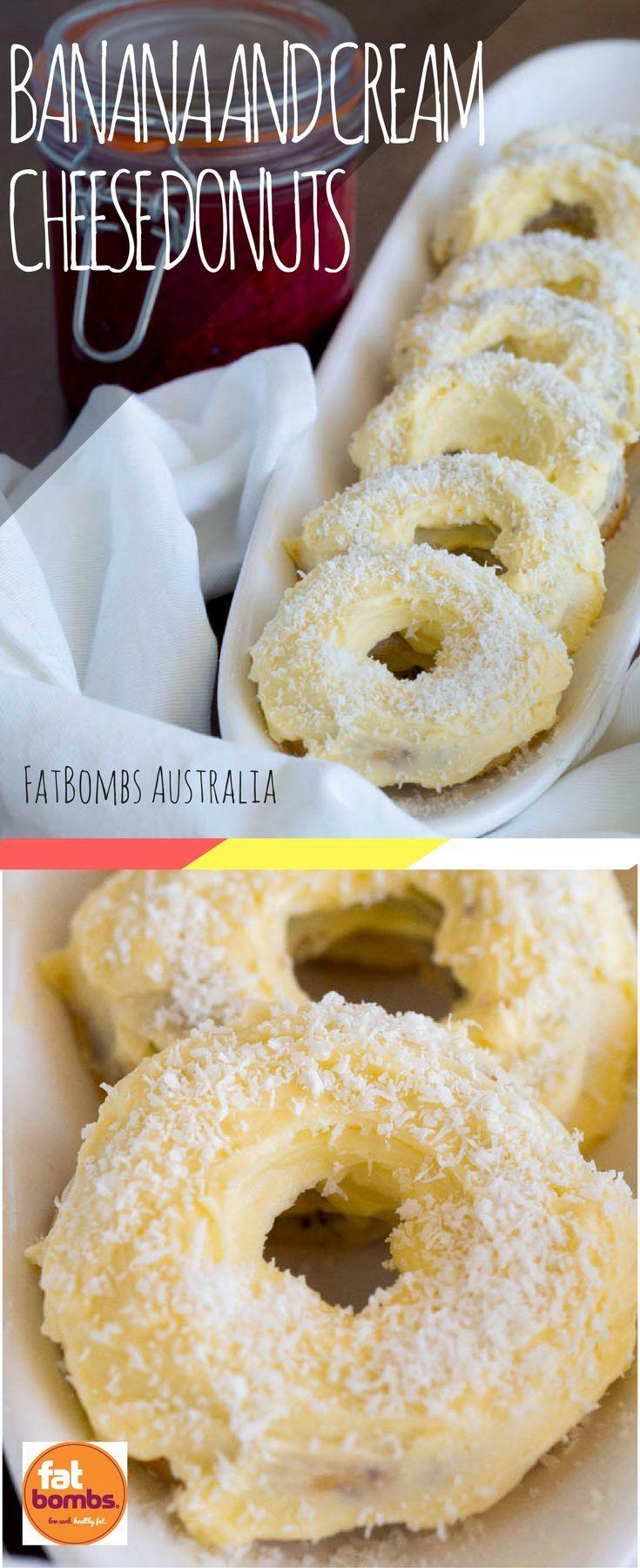 Banana and cream cheese keto donuts recipe low carb