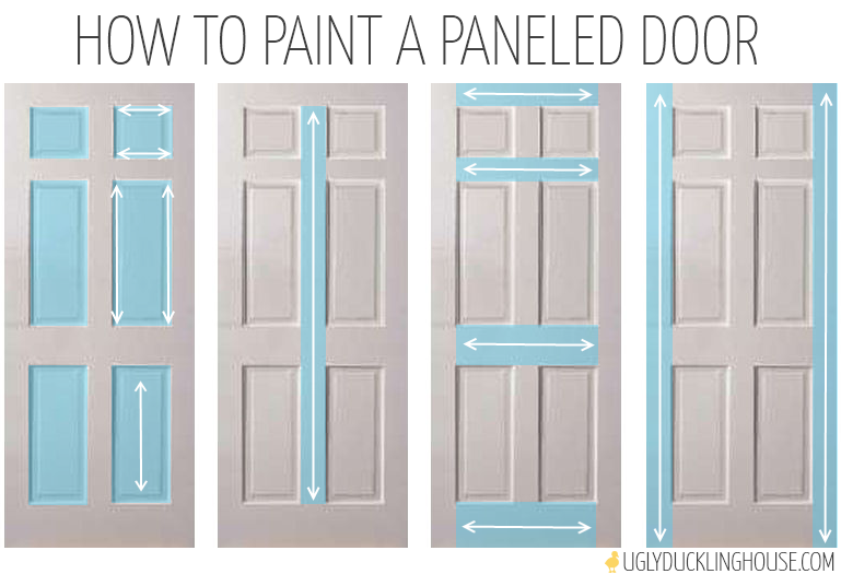 How To Paint A Paneled Door U2022 Ugly Duckling House