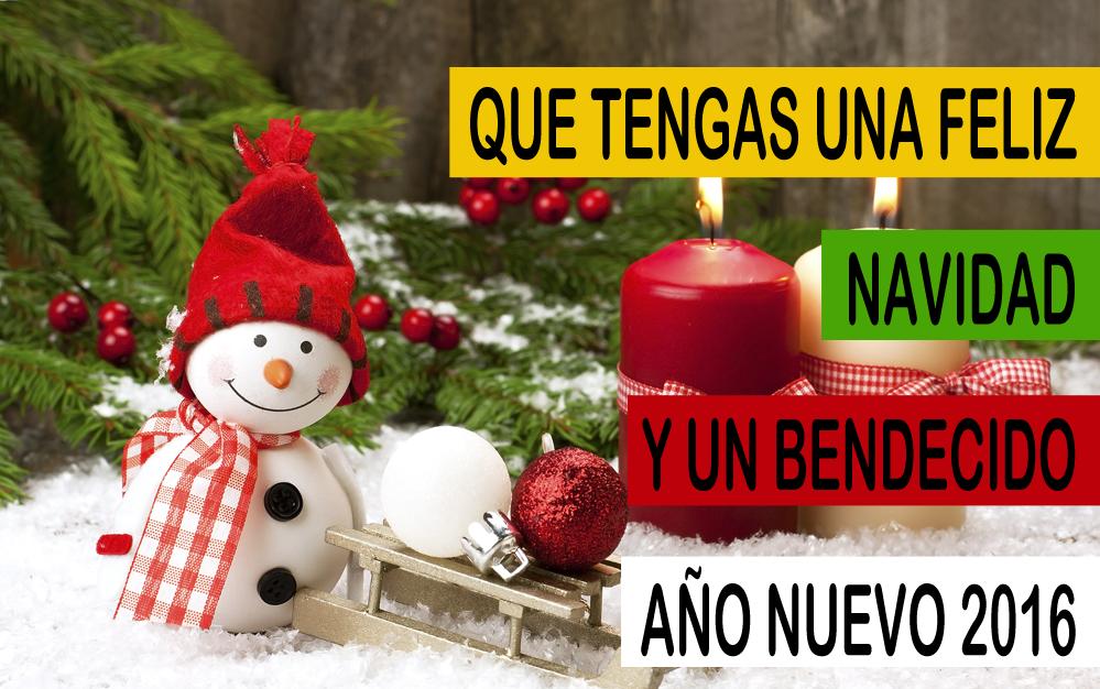Feliz Navidad Y Prospero Año Nuevo 2016 Nieve Navidad Y