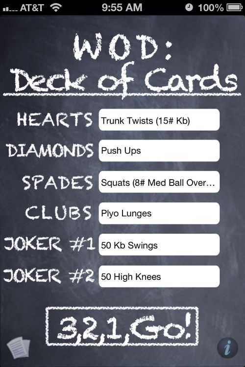Deck Of Cards WOD - Good For Quick Workouts While