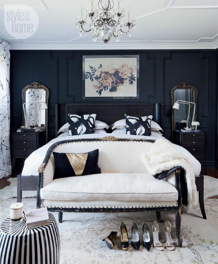 Colores para paredes de acento - tonos oscuros para el dormitorio ...