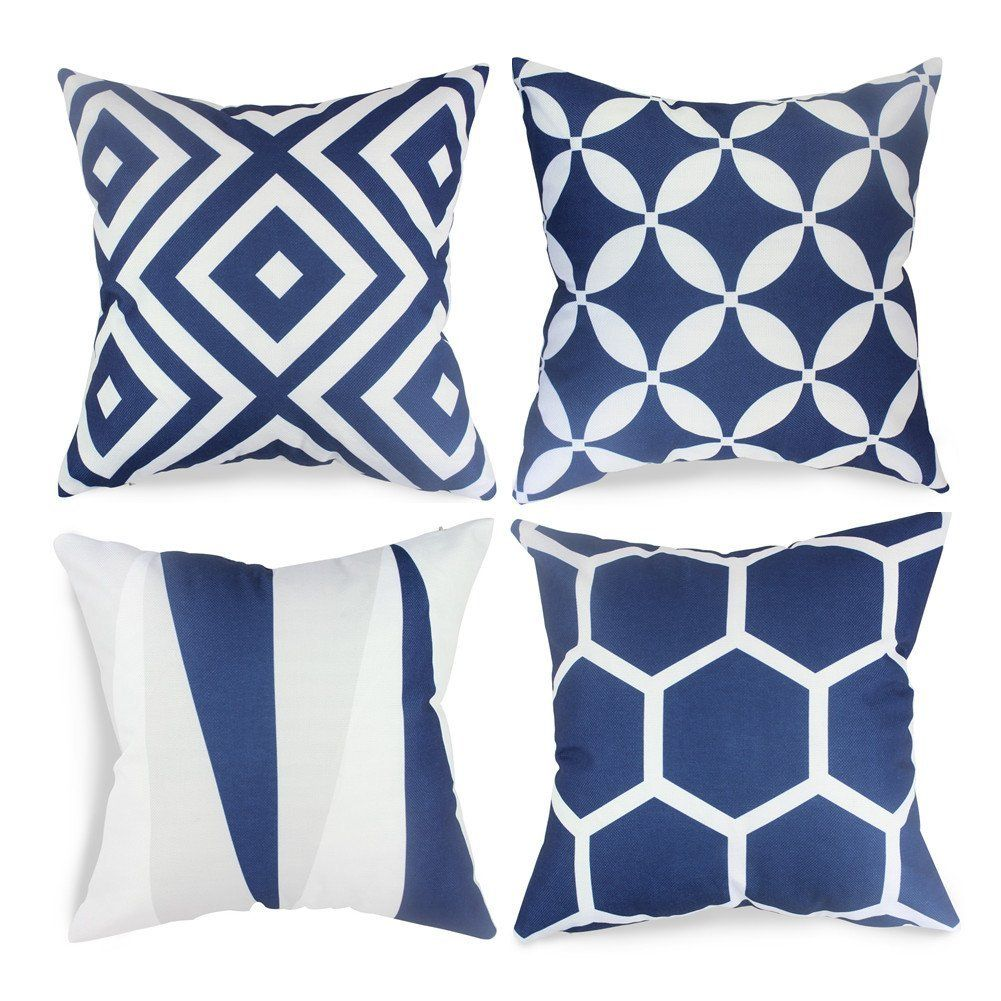 50 2 Amazon Com Popeven Royal Blue Throw Pillow Covers Set Of