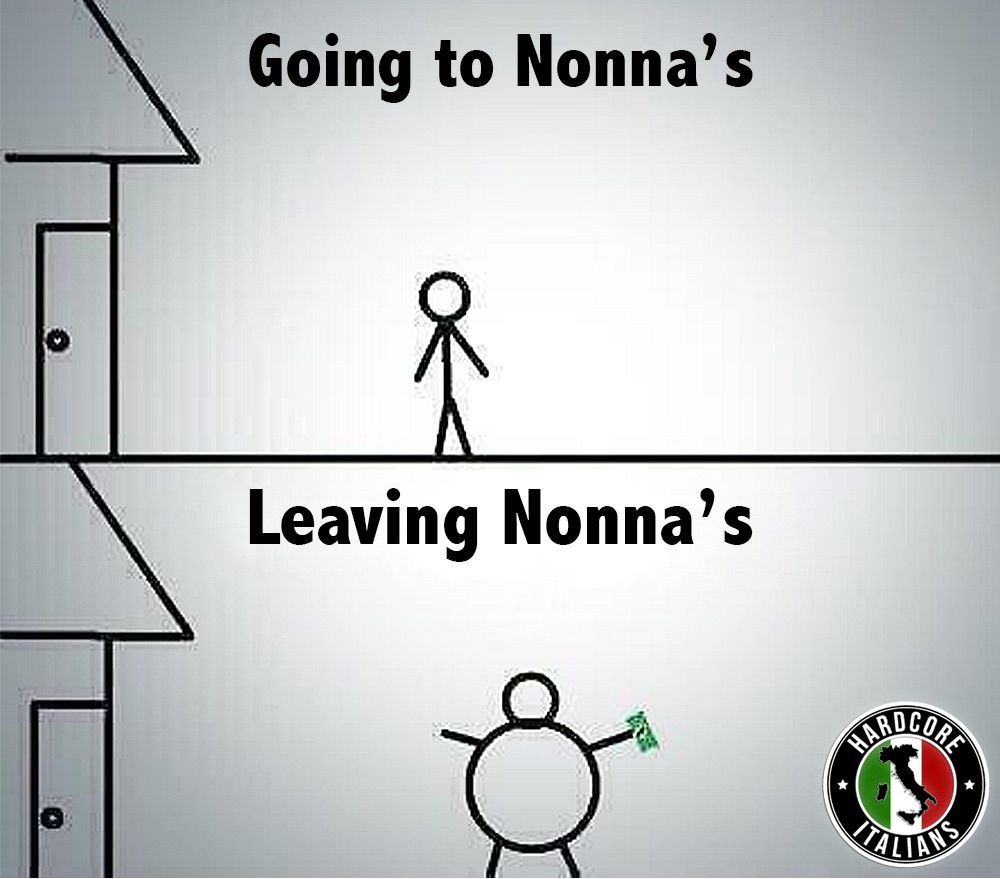 Going to Nonna's vs. Leaving Nonna's | Funny italian memes ...