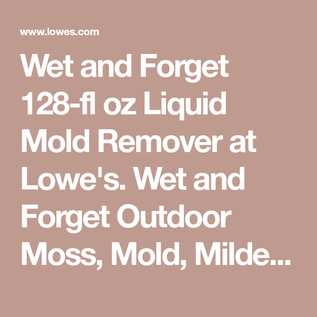 Wet And Forget 128 Fl Oz Liquid Mold Remover At Lowe S Wet And Forget Outdoor Moss Mold Mildew And Algae Stain Remover Is The Mold Remover Wet Stain Remover