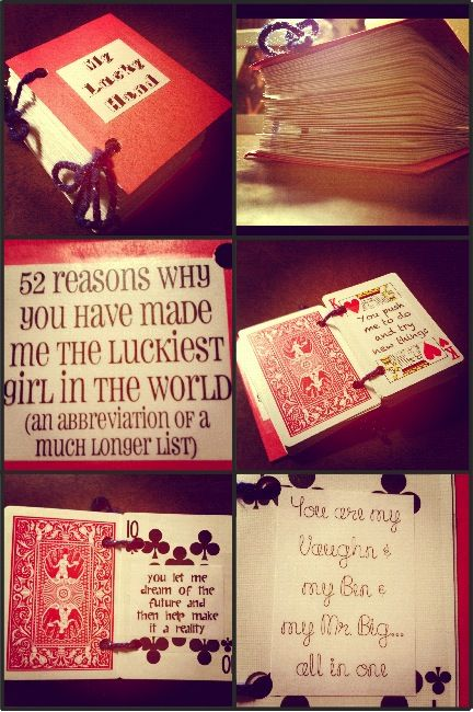 A book I created for my husband using playing cards Happy – Valentine Playing Cards