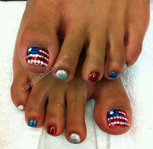 Pin On Nails Design 4th Of July