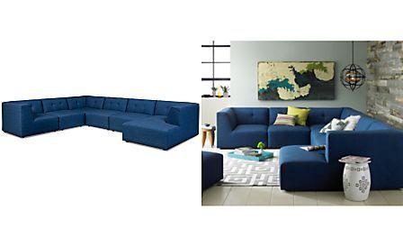 Garnet Fabric 6 Piece Modular With Chaise 152 Sectional Sofa