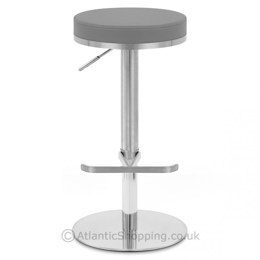 Phenomenal Oracle Brushed Steel Stool Grey Tables Chairs Stool Andrewgaddart Wooden Chair Designs For Living Room Andrewgaddartcom