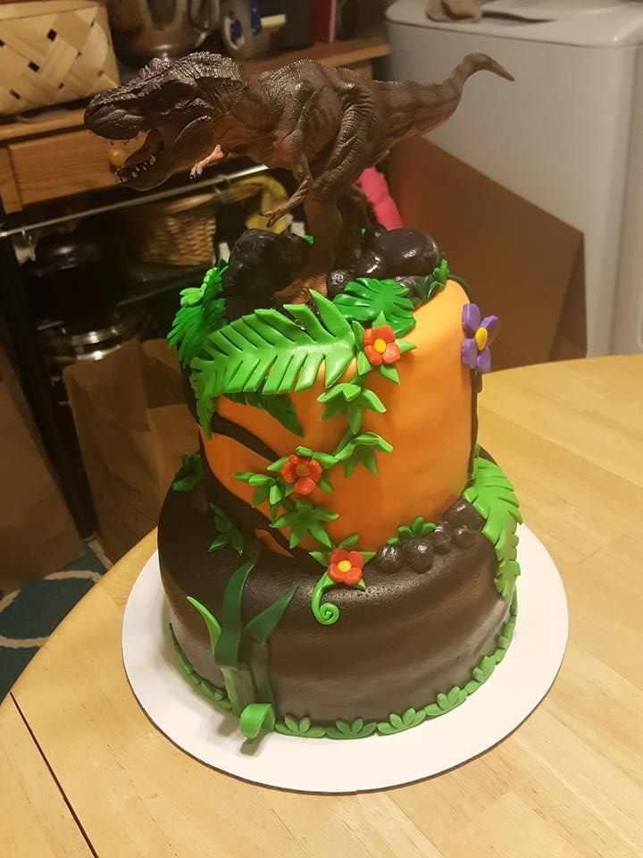 Trex cake for Jases birthday My Custom Cakes Pinterest