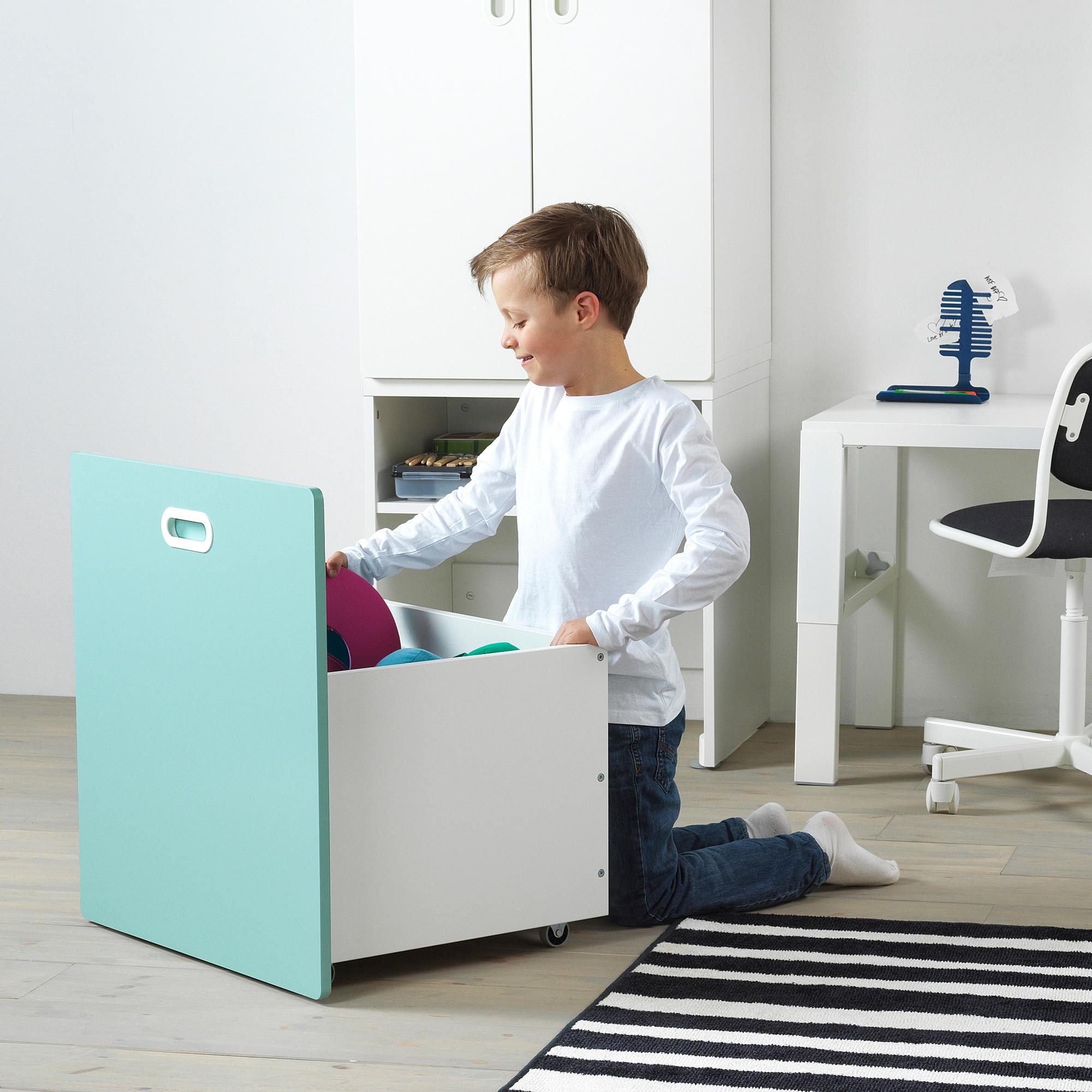 Stuva Fritids Schrank Mit Spielzeugaufbewahrung Weiss Hellblau
