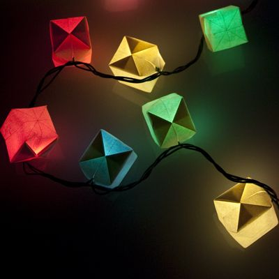 vellum origami cubes christmas lights covers - Vellum Origami Cubes Christmas Lights Covers Projects Origami