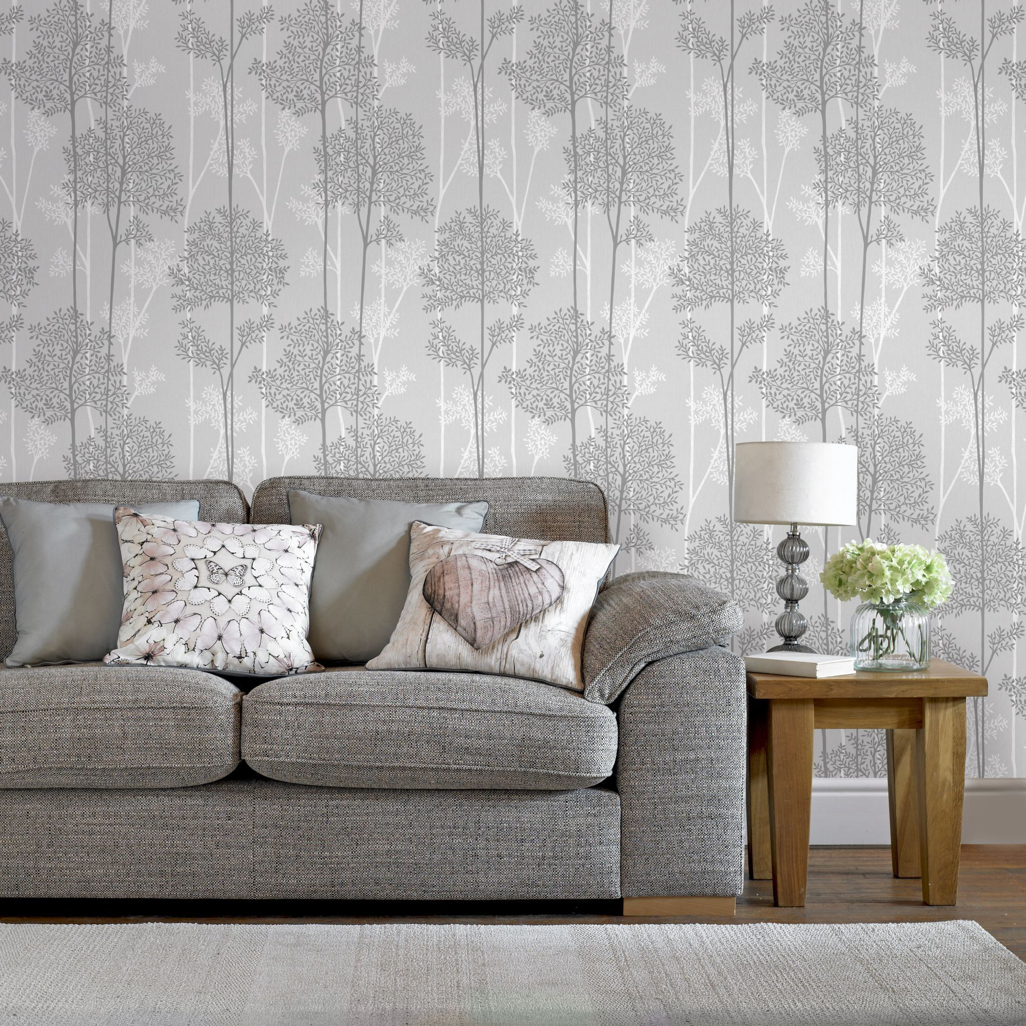 Graham Brown Eternal Gray Vinyl Strippable Wallpaper Covers 56 Sq Ft 33 287 The Home Depot Silver Wallpaper Wall Wallpaper Grey Wallpaper